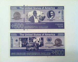 New Money 500 Contintental Dollars