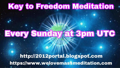 Key to Freedom Meditation Sundays 3pm UTC